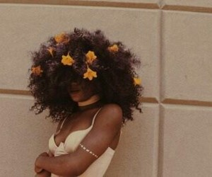 flowers, beauty, and Afro image