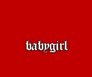 red, theme, and babygirl image