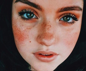 eyes, face, and freckles image