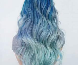 hair, style, and blue hair image