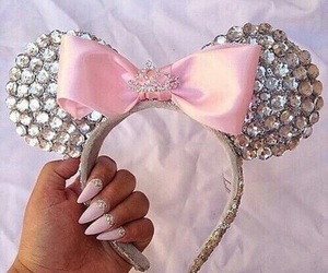 minnie ears and cute nails image