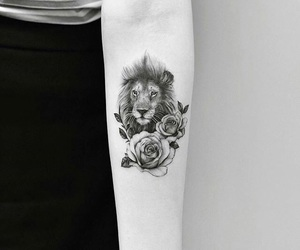 flores, flowers, and lion image