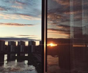 nature, night, and sunset image