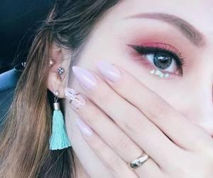 pony, makeup, and nails image