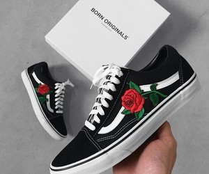 rose, girl, and vans image