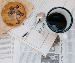 coffee, cookie, and morning image