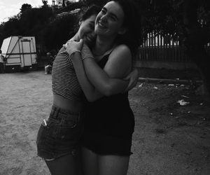 black and white, summer, and bestie image