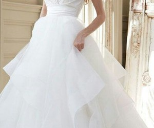 beauty, moda, and wedding dress image