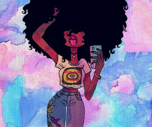 cartoon, colors, and curly hair image