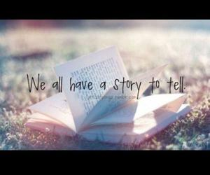 story, book, and life image