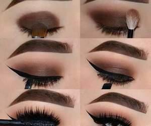 black, smokey eye, and beautifull image