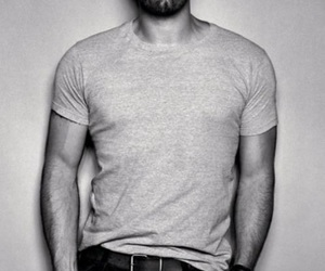 Ben Affleck, black and white, and boy image