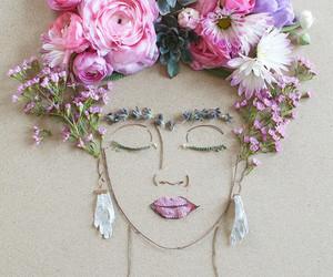 flowers, art, and frida kahlo image