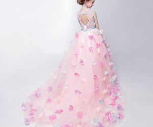 asymmetrical, ball gown, and girls image