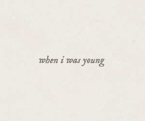 Lyrics, taeyeon, and when i was young image