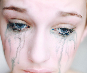 cry, girl, and eyes image