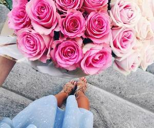 chic, fashion, and pink roses image