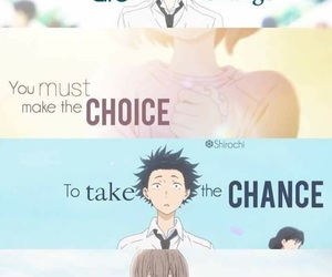 a silent voice, anime, and quotes image