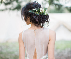 hair, inspiration, and wedding image