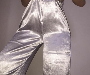 fashion, satin, and trousers image