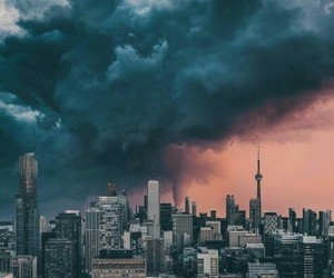 black, storm, and city image