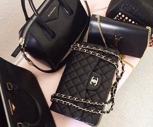 bag, chanel, and black image