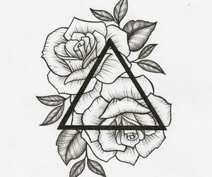 rose, art, and tattoo image