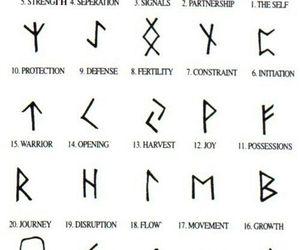 tattoo, symbol, and runes image