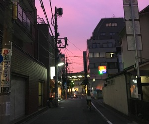 aesthetic, japan, and purple image