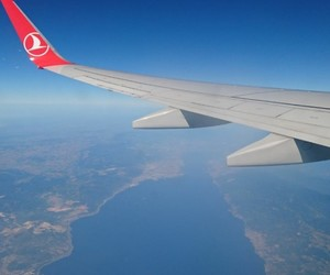 airplane, plane, and sea image