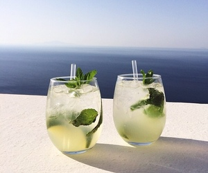 drink, summer, and mojito image