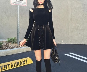 girl, black, and clothes image
