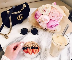 bag, breakfast, and fashion image