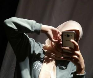 aesthetics, hijab, and pink image