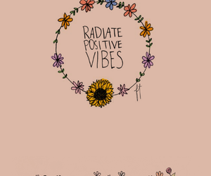 flowers, pink, and positive vibes image