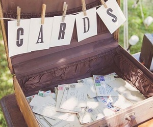cards, vintage, and wedding image
