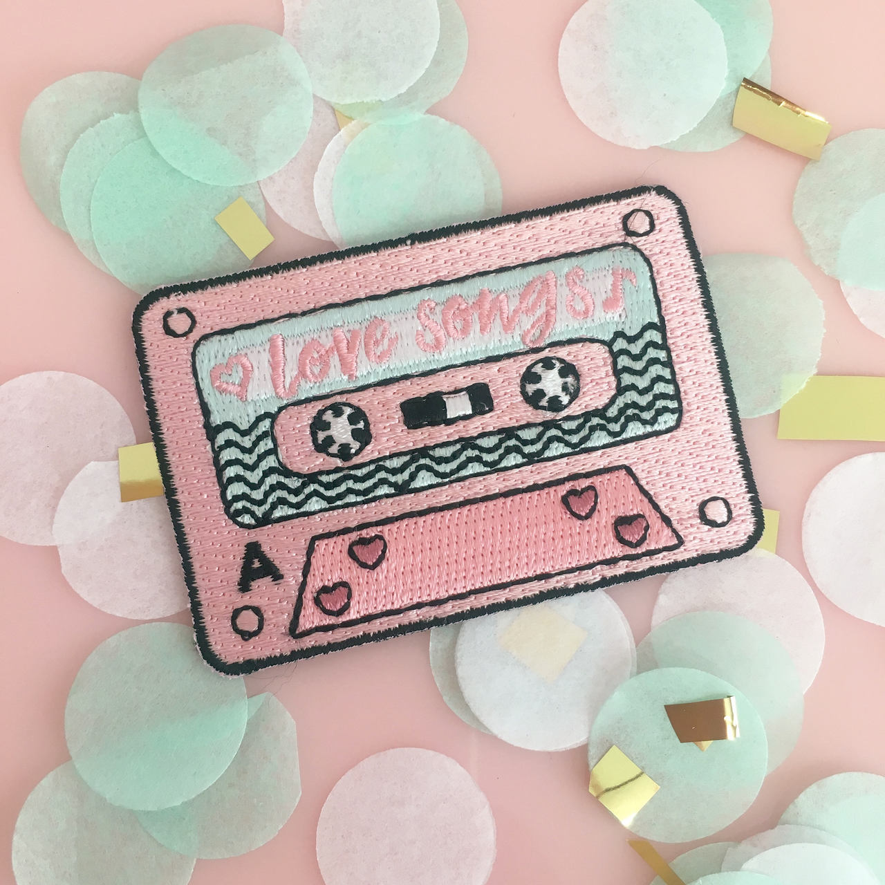 patch, cassette, and pink image