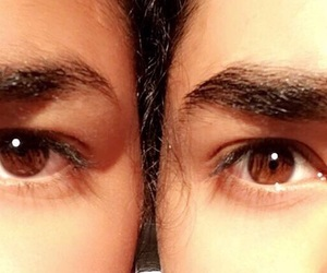 brother, brown, and eye image