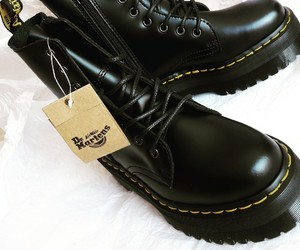 black, clothes, and dr martens image