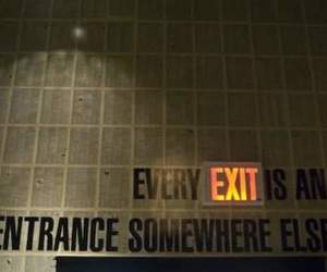 quotes, exit, and entrance image