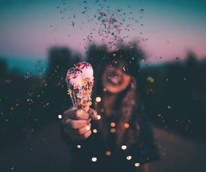 girl, beauty, and ice cream image
