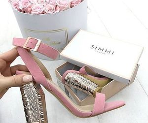 girl, pink, and heel image