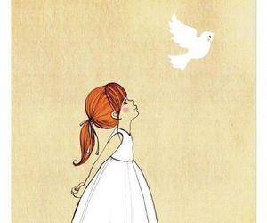 bird, art, and dove image