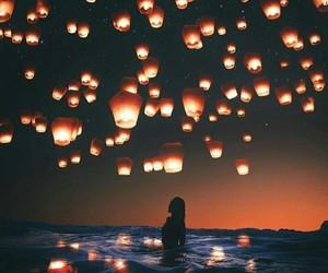 beautiful, night, and love image