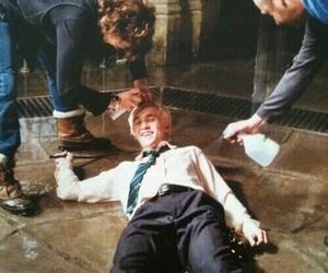 draco malfoy, harry potter, and tom felton image