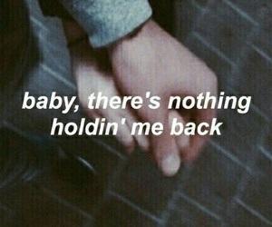 couple, hands, and Lyrics image