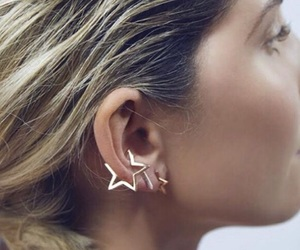 earring, jewelry, and star image