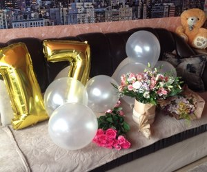 balloons and rose image