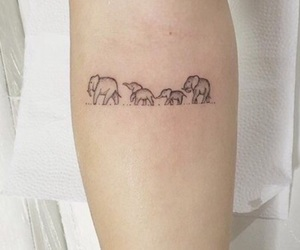 arm, elephants, and outline image