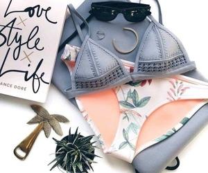 bikini, summer, and triangl image
